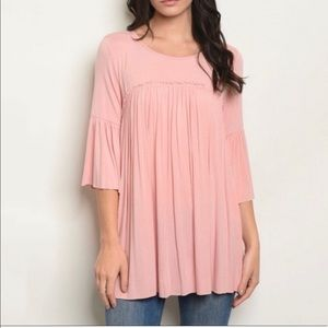 Loose Fit Ruffle Tunic